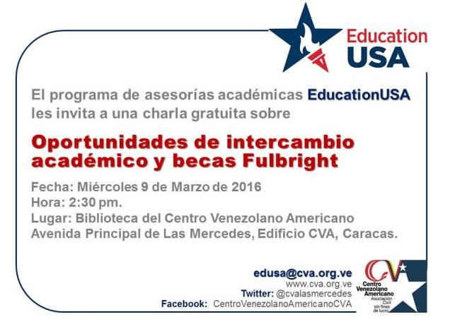 20160309 invitacion charla edusa_fulbright