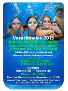 CURSOS VACACIONALES CVA 2015 PARA NINOS