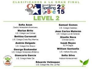 CLASIFICADOS SB2015_LEVEL 2