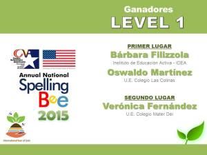 GANADORES LEVEL 1