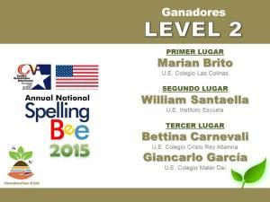 GANADORES LEVEL 2