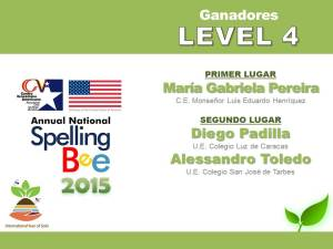 GANADORES LEVEL 4