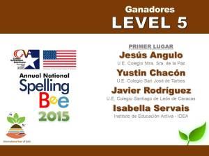 GANADORES LEVEL 5