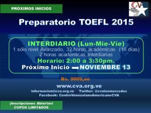 20151023 NUEVO INICIO TOEFL INTERDIARIO NOV 13