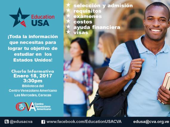 Promo Charla Mensual EducationUSA CVA 2017_ENERO